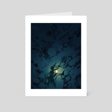 Microbial Dark Matter - Art Card by Ashley Mackenzie