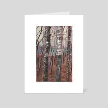 Birch Forest - Art Card by Thaddeus Pasierb