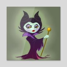 Maleficent - Acrylic by Angie Hu