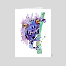 Purple Frog - Art Card by Sebastian Grafmann