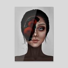 Karou - Acrylic by Julie Viktoria