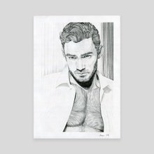 portrait in stripes 2 - Canvas by Krzysztof Wielkopolski