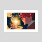 a shooting star - Art Print by vee vallery