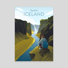 Travel to Iceland - Canvas by Anna Kuptsova