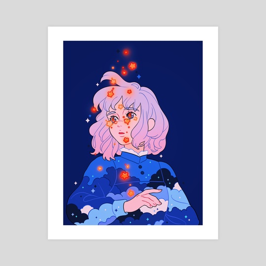 Tears falling like stars by Meyoco