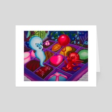 Chocolate Fixes Everything - Art Card by Hex