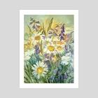 Summer bouquet - Art Print by Dina Morzhina
