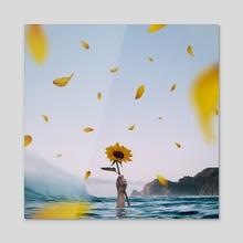Sunflower - Acrylic by Jared Sandoval
