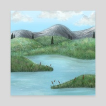 Mountain Valley - Canvas by Hope Hemenway