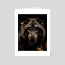 WOLF - Art Card by Ayaz Malik