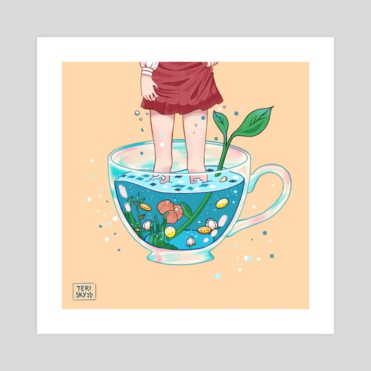 Tea Cup by Teri Sky