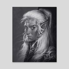 Dark Elf - Acrylic by Maria Dimova