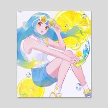 Lemon Soda - Acrylic by kuraftii