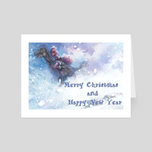 Merry Christmas and Happy New Year  - Art Card by art by Meng