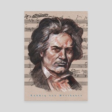 beethoven - Canvas by mamut  rojo