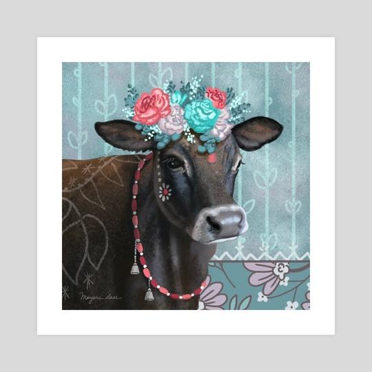 Shyamali, Cow with Flower Wreath by Go-Love