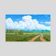 What Lies Ahead - Canvas by Gavryl Tampil