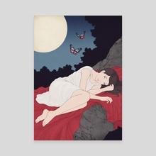 Asagimadara - Canvas by Sai Tamiya