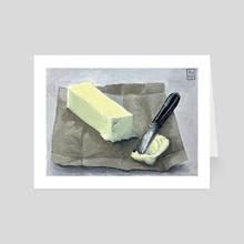 One Tbsp Butter - Art Card by Anne Pennypacker