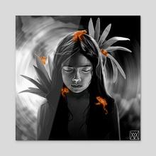 Incilius periglenes - Acrylic by Marta Vives