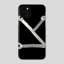 Heinrich Cornelius Agrippa Of Occult Philosophy 1651 Angelic Alphabet or Celestial Writing 10 Zade Inverted - Phone Case by Wetdryvac WDV