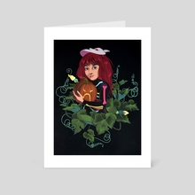 Pepper of the Pumpkin Patch - Art Card by Allison Bamcat
