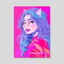 Neon Cat Nanika - Acrylic by Looona Lou