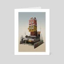 Berlin in A Nutshell - Art Card by Nina Limarev