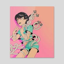 Goretober 24: Asphyxiation  - Acrylic by Sinny Kitt