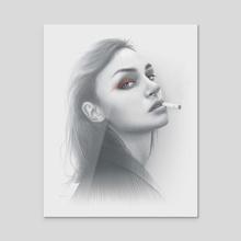 Poison Portrait - Acrylic by Moisés Rodríguez