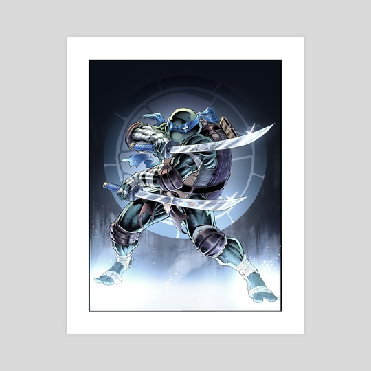 Leonardo Tmnt An Art Print By Duh Dude Inprnt
