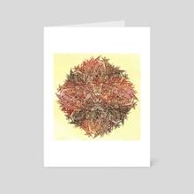 Botanical BioMorph Mandala - 1 - Art Card by Aleks Shcherbakov