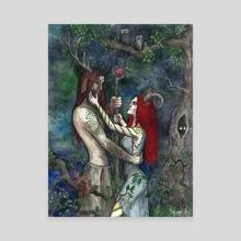 Wild love - Canvas by Olga Demidova