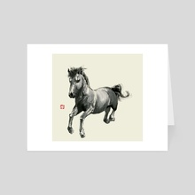 Horse - 2 - Art Card by River Han