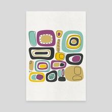 Midcentury Squares - Canvas by Jutta Schneider