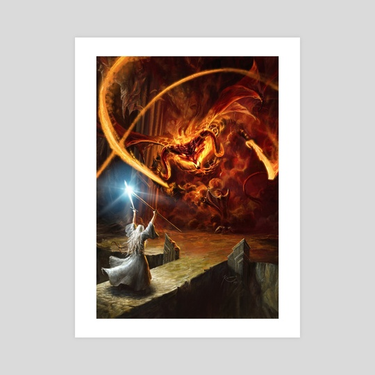 Gandalf and the Balrog by Gonzalo Kenny