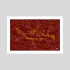 Indonesia in batik - Art Print by Dede