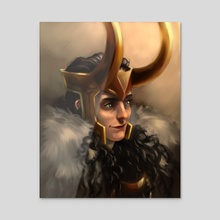 Lady Loki - Sunrise Hues - Acrylic by bardicious