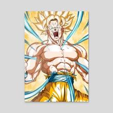 Super Saiyan Songoku - Acrylic by KinzokuMatto