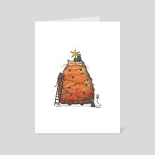 Meowry Christmas - Art Card by Maureen Kuo