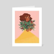 Flower Girl - Fall - Art Card by Karina Perez