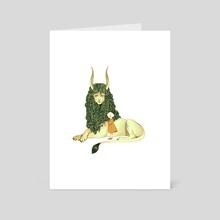 Sphinx & Child - Art Card by Rachel Suggs
