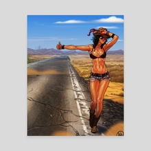 Hope, The Hitchhiker - Canvas by Alessandro Mazzetti