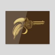 Banana Gun - Acrylic by Enkel Dika