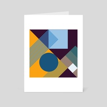 Positive geometric 07 - Art Card by Dmitry Payvin