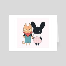 Cat and Bunny - Art Card by Nymria
