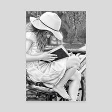 Summer Reading - Canvas by Aurelia Chaintreuil