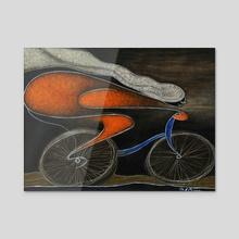 Ciclista - Acrylic by Jose De la Barra