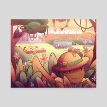 Backyard Jungle - Canvas by Kathryn Herndon