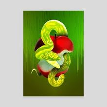 The Forbidden Fruit - Canvas by Ayomidotun Freeborn